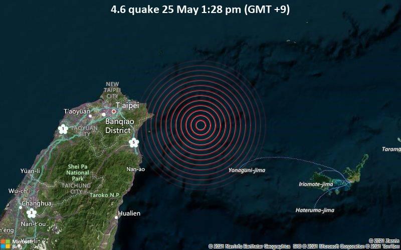 4.6 quake 25 May 1:28 pm (GMT +9)