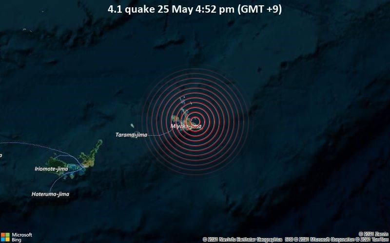 4.1 quake 25 May 4:52 pm (GMT +9)