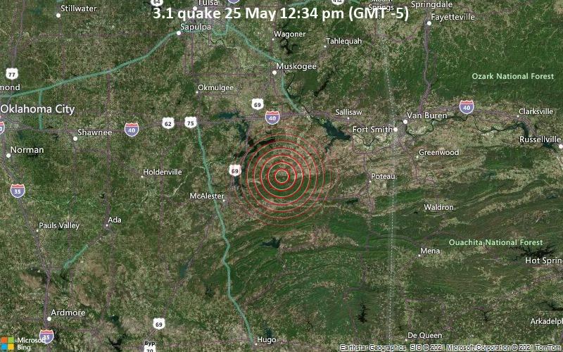 3.1 quake 25 May 12:34 pm (GMT -5)