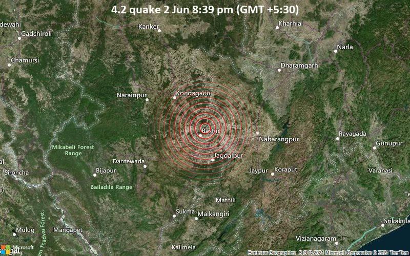 4.2 quake 2 Jun 8:39 pm (GMT +5:30)