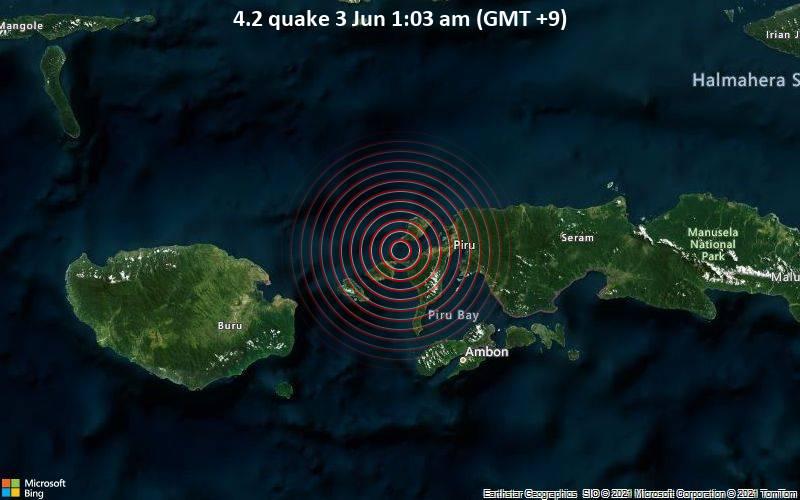 4.2 quake 3 Jun 1:03 am (GMT +9)