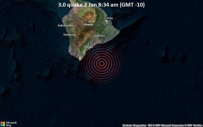 3.0 quake 2 Jun 8:34 am (GMT -10)