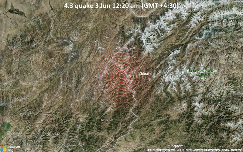 4.3 quake 3 Jun 12:20 am (GMT +4:30)