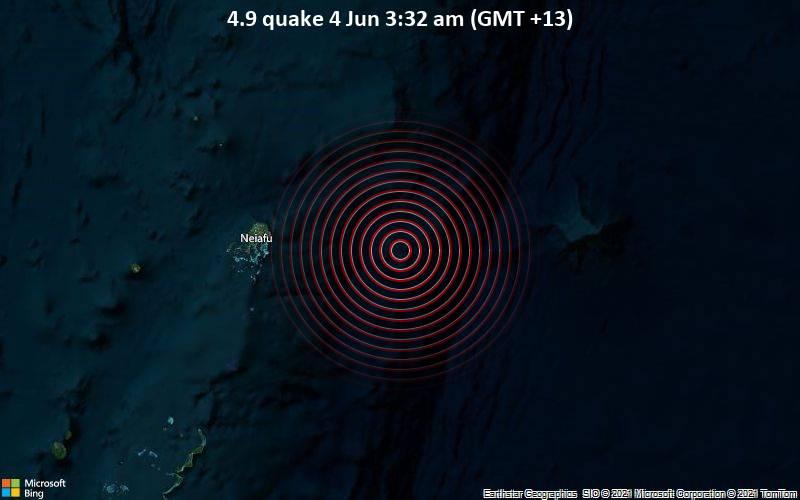 4.9 quake 4 Jun 3:32 am (GMT +13)