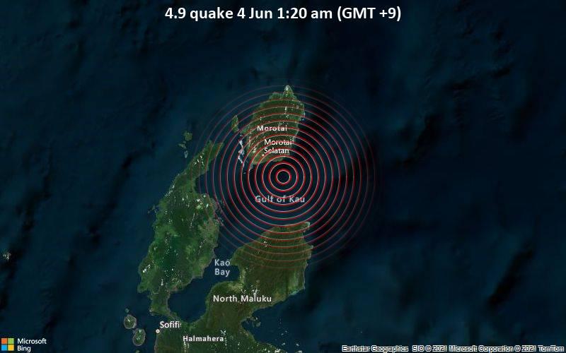 4.9 quake 4 Jun 1:20 am (GMT +9)