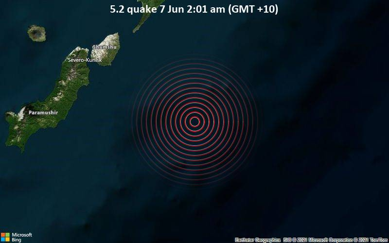 5.2 quake 7 Jun 2:01 am (GMT +10)