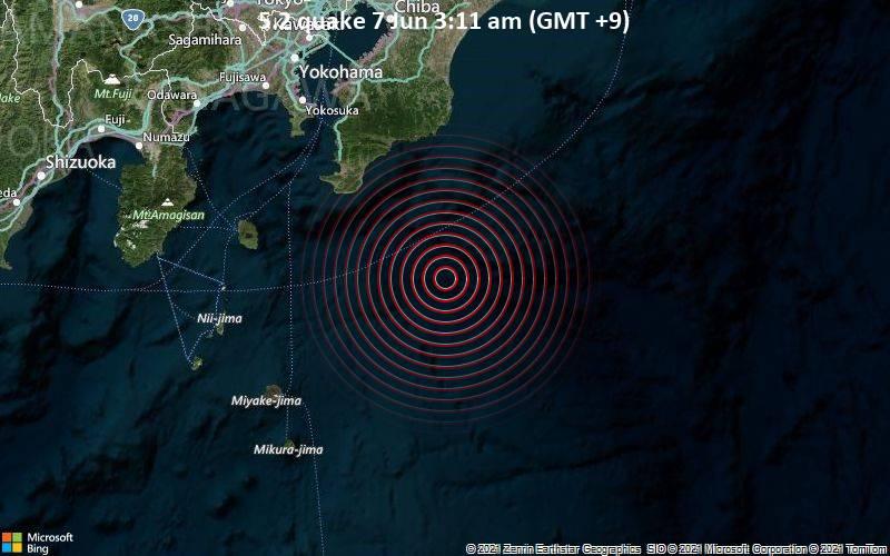5.2 quake 7 Jun 3:11 am (GMT +9)