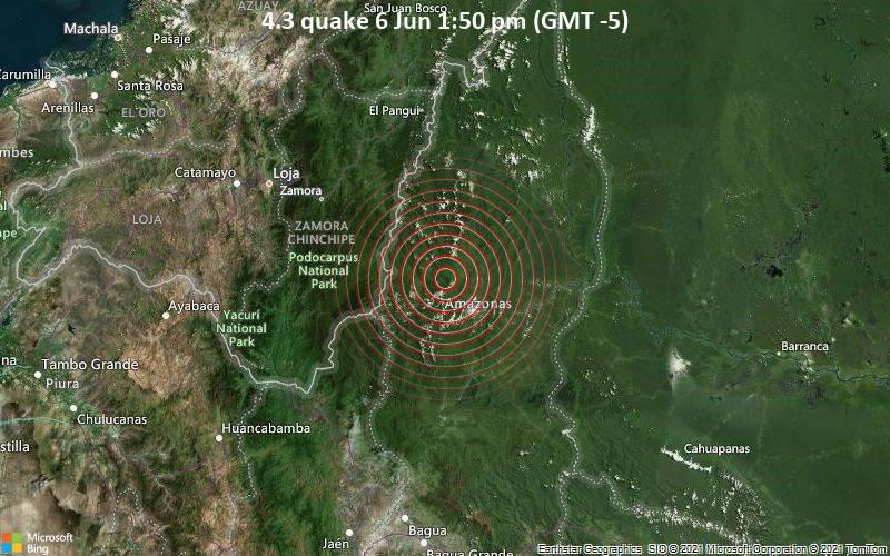 4.3 quake 6 Jun 1:50 pm (GMT -5)
