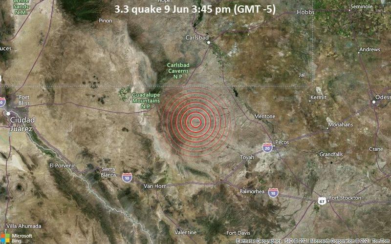 3.3 quake 9 Jun 3:45 pm (GMT -5)