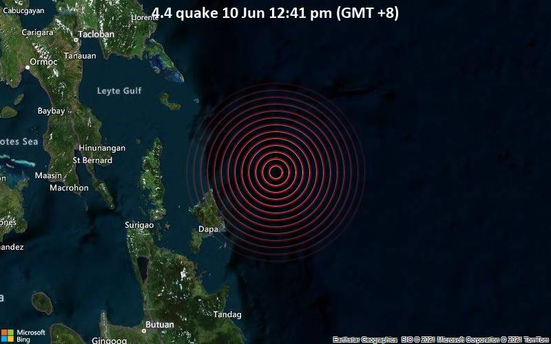 4.4 quake 10 Jun 12:41 pm (GMT +8)