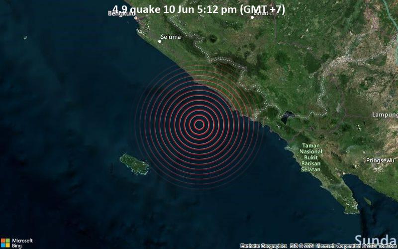4.9 quake 10 Jun 5:12 pm (GMT +7)