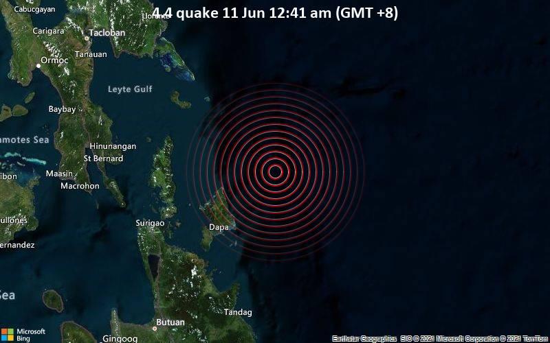 4.4 quake 11 Jun 12:41 am (GMT +8)