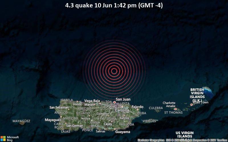 4.3 quake 10 Jun 1:42 pm (GMT -4)