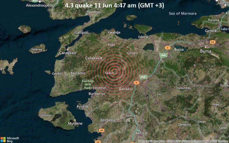 4.3 quake 11 Jun 4:47 am (GMT +3)