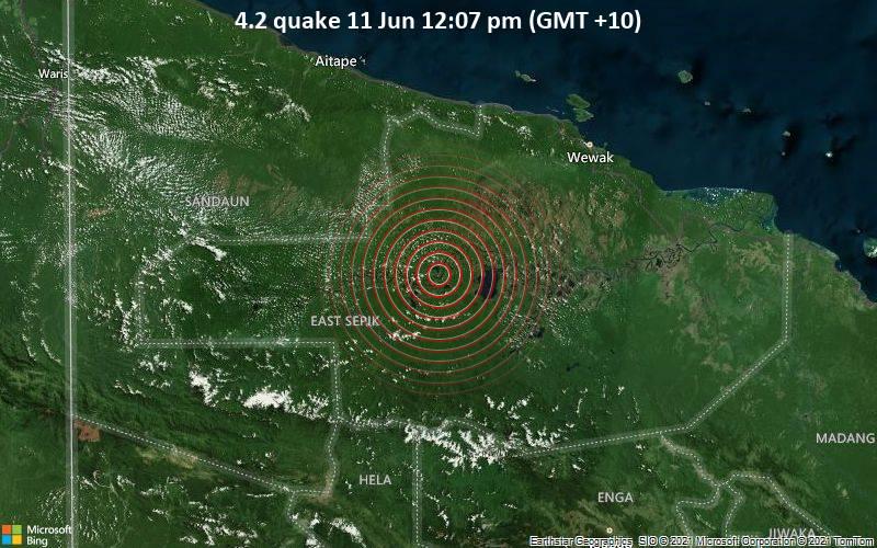 4.2 quake 11 Jun 12:07 pm (GMT +10)