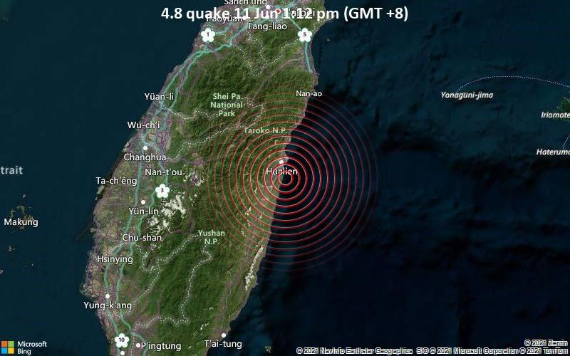 4.8 quake 11 Jun 1:12 pm (GMT +8)