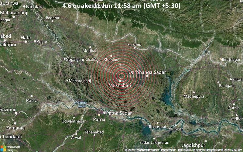 4.6 quake 11 Jun 11:58 am (GMT +5:30)
