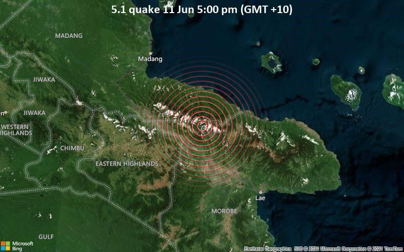 5.1 quake 11 Jun 5:00 pm (GMT +10)
