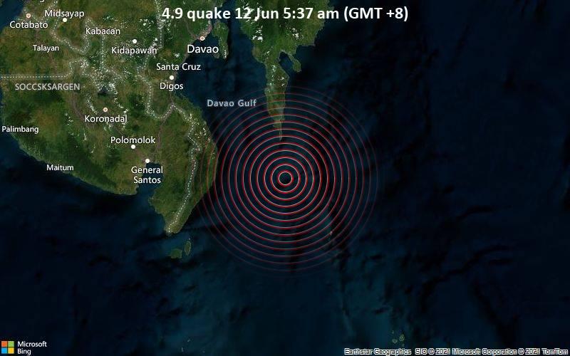 4.9 quake 12 Jun 5:37 am (GMT +8)