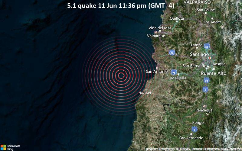 5.1 quake 11 Jun 11:36 pm (GMT -4)