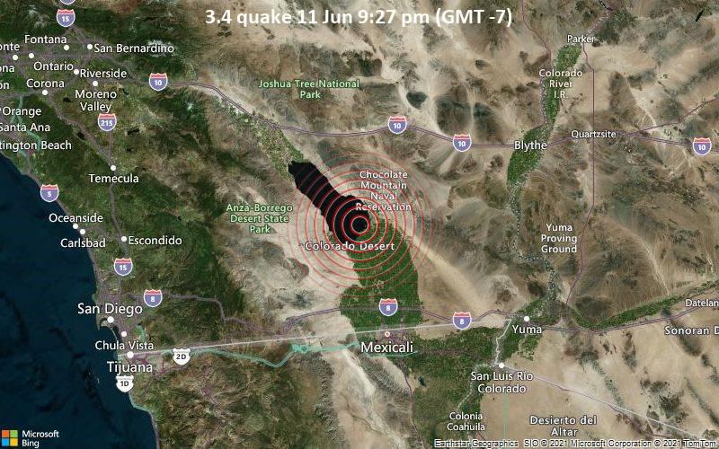 3.4 quake 11 Jun 9:27 pm (GMT -7)