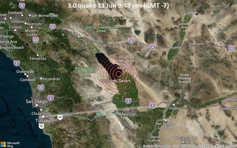 3.0 quake 11 Jun 9:48 pm (GMT -7)
