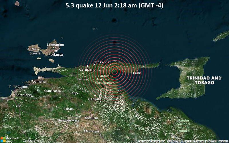 5.3 quake 12 Jun 2:18 am (GMT -4)