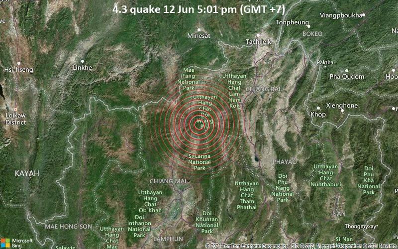 4.3 quake 12 Jun 5:01 pm (GMT +7)