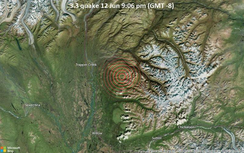 3.3 quake 12 Jun 9:06 pm (GMT -8)
