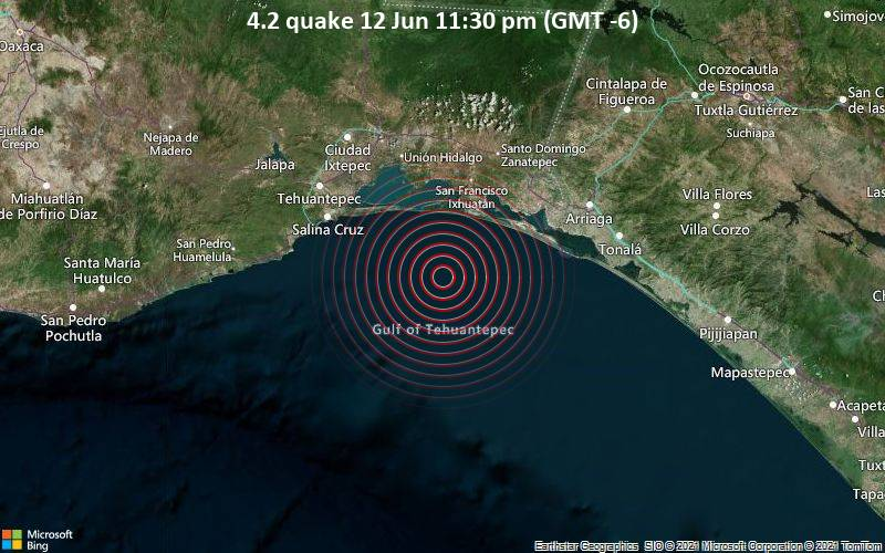4.2 quake 12 Jun 11:30 pm (GMT -6)
