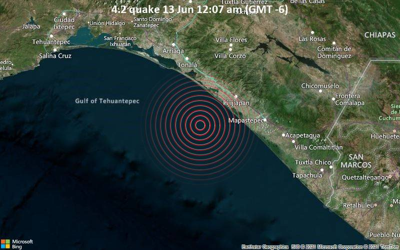 4.2 quake 13 Jun 12:07 am (GMT -6)