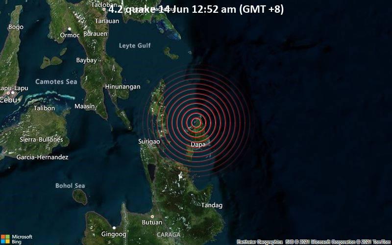 4.2 quake 14 Jun 12:52 am (GMT +8)
