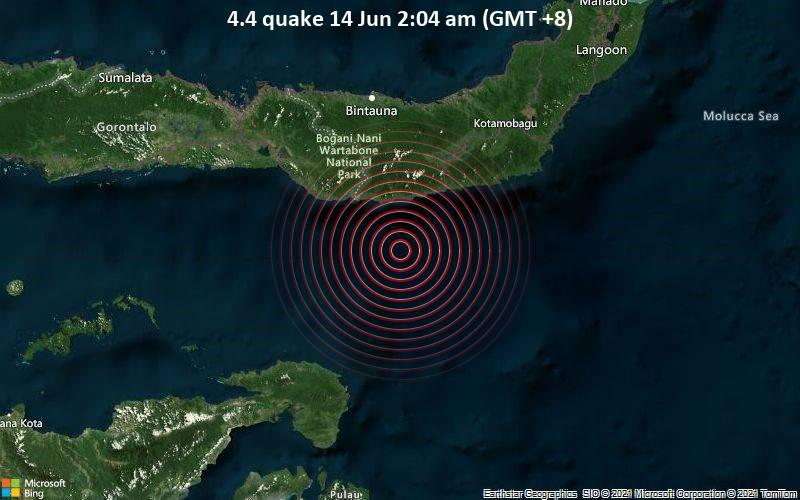4.4 quake 14 Jun 2:04 am (GMT +8)