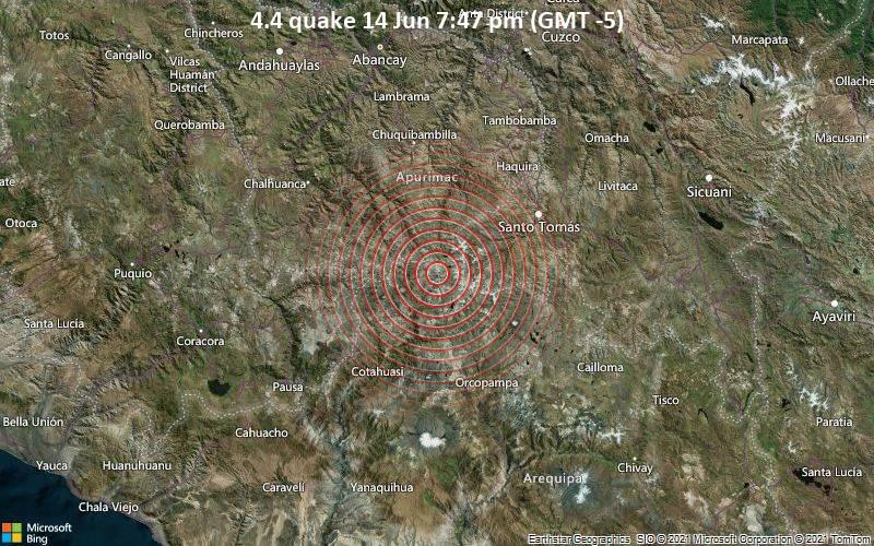 4.4 quake 14 Jun 7:47 pm (GMT -5)