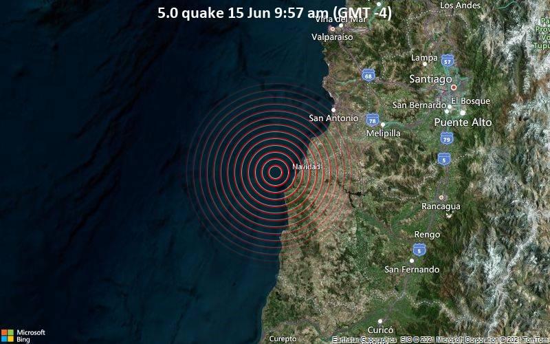 5.0 quake 15 Jun 9:57 am (GMT -4)