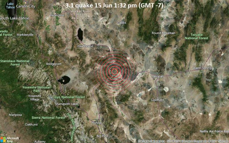 3.1 quake 15 Jun 1:32 pm (GMT -7)