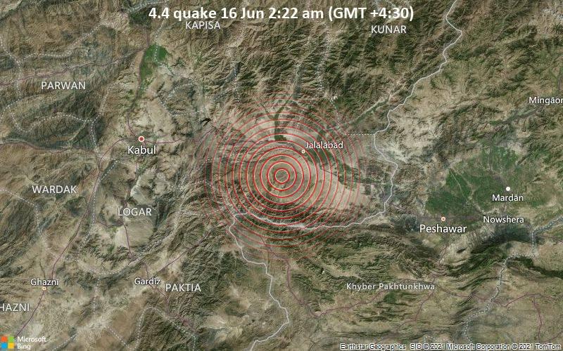 4.4 quake 16 Jun 2:22 am (GMT +4:30)