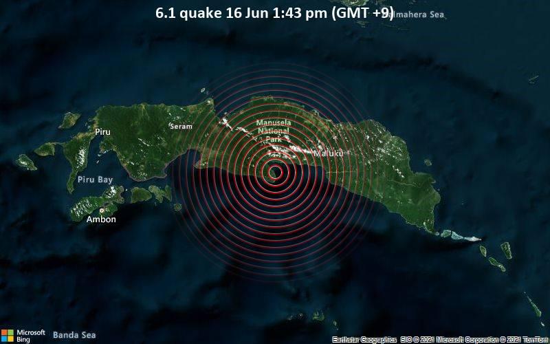 6.1 quake 16 Jun 1:43 pm (GMT +9)