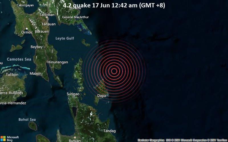 4.2 quake 17 Jun 12:42 am (GMT +8)