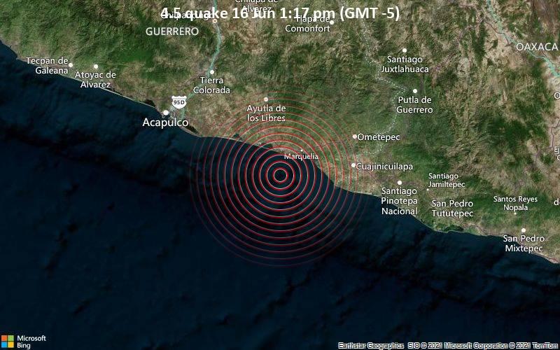 4.5 quake 16 Jun 1:17 pm (GMT -5)