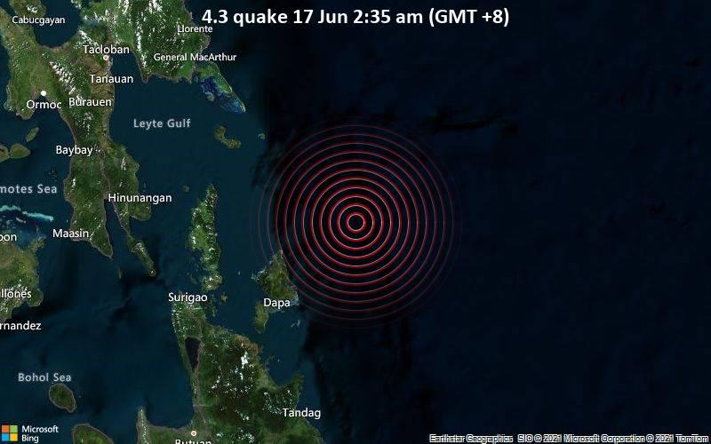 4.3 quake 17 Jun 2:35 am (GMT +8)