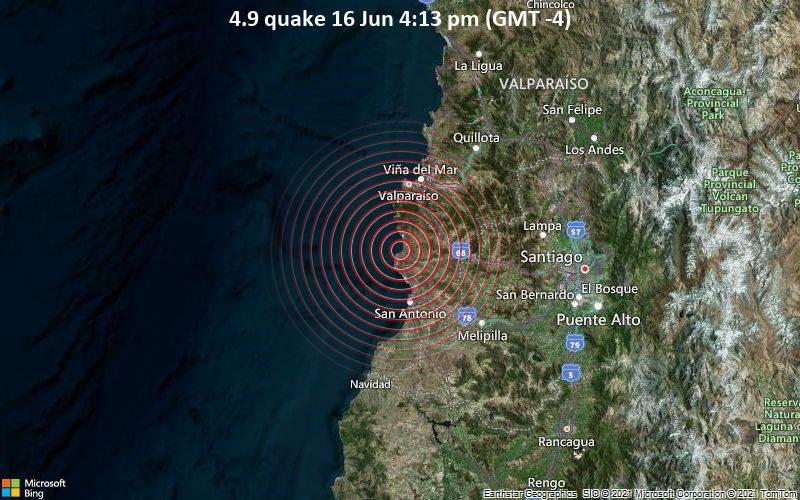 4.9 quake 16 Jun 4:13 pm (GMT -4)