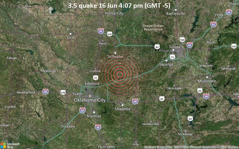 3.5 quake 16 Jun 4:07 pm (GMT -5)