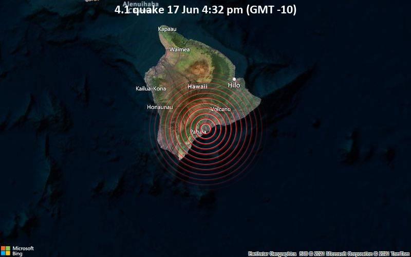 4.1 quake 17 Jun 4:32 pm (GMT -10)