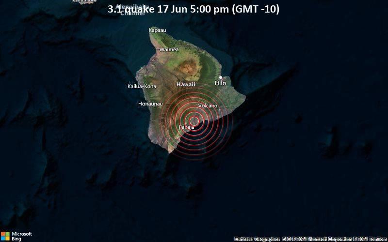 3.1 quake 17 Jun 5:00 pm (GMT -10)
