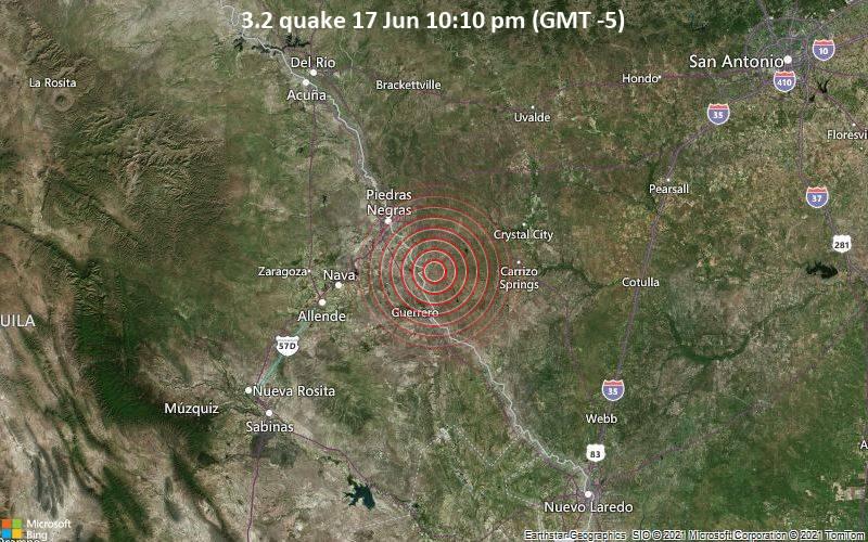 3.2 quake 17 Jun 10:10 pm (GMT -5)