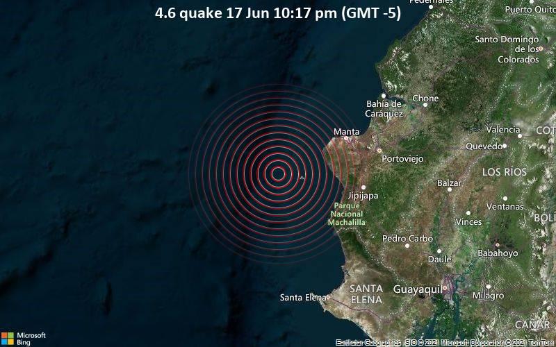 4.6 quake 17 Jun 10:17 pm (GMT -5)