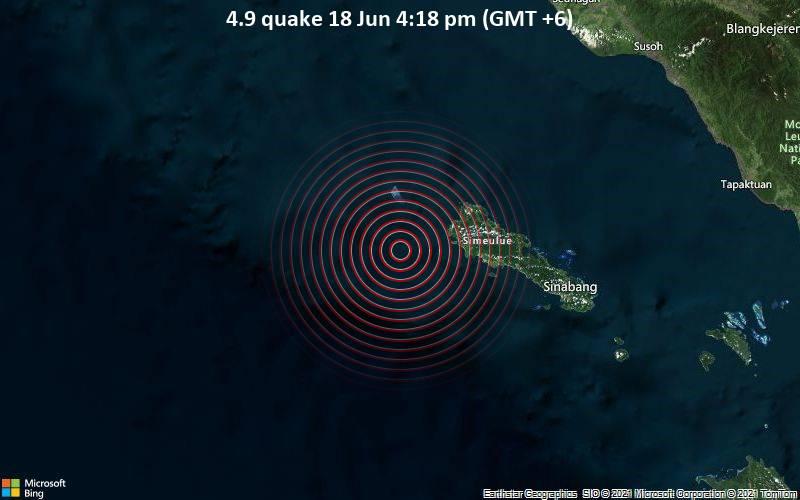 4.9 quake 18 Jun 4:18 pm (GMT +6)