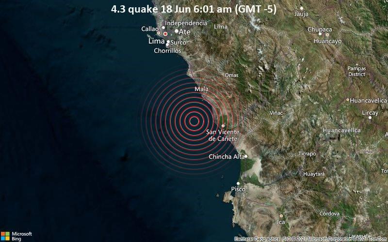 4.3 quake 18 Jun 6:01 am (GMT -5)
