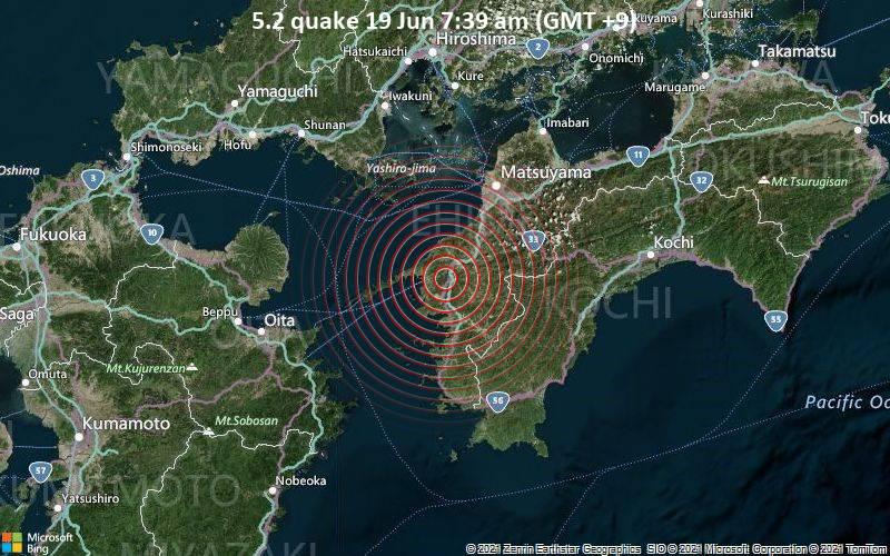 5.2 quake 19 Jun 7:39 am (GMT +9)